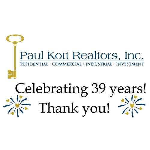Paul Kott Realtors Celebrates 39 Years!
